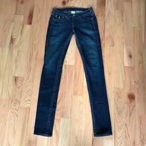 Super Skinny Jean with Flap - Dark Wash